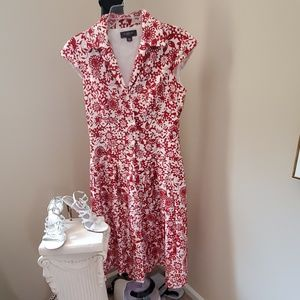NWOT Liz Claiborne Red Floral Dress